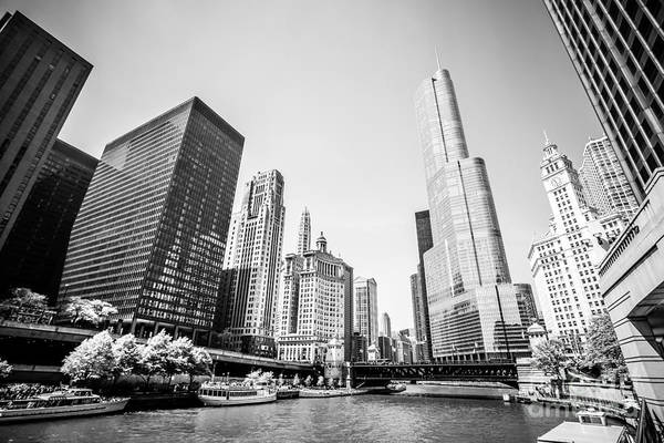 North London Wall Art - Photograph - Black And White Picture Of Downtown Chicago by Paul Velgos