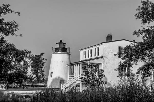 Wall Art - Photograph - Black And White Piney Point Lighthouse by Bill Cannon