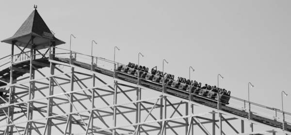 Photograph - Black And White Roller Coaster by Dan Sproul
