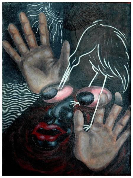 Kannan Painting - Black And White by Sooraj Kannan
