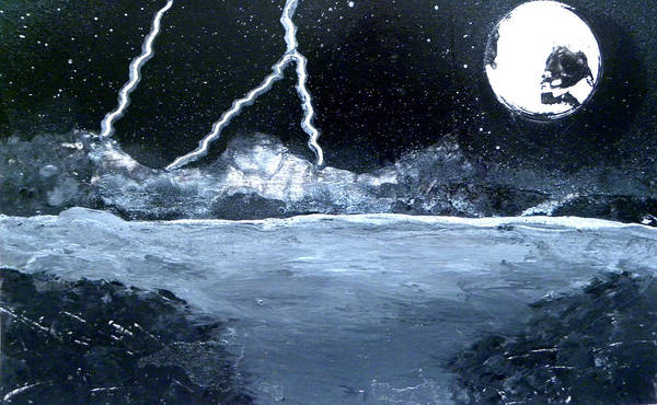 Crazy Mountains Painting - Black And White Storm  by Chris DeVries