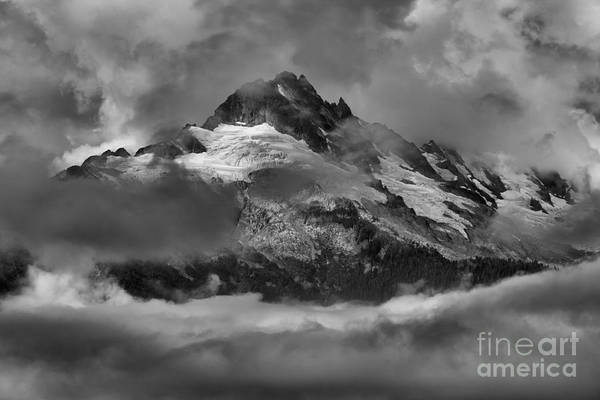 Photograph - Black And White Tantalus Storms by Adam Jewell