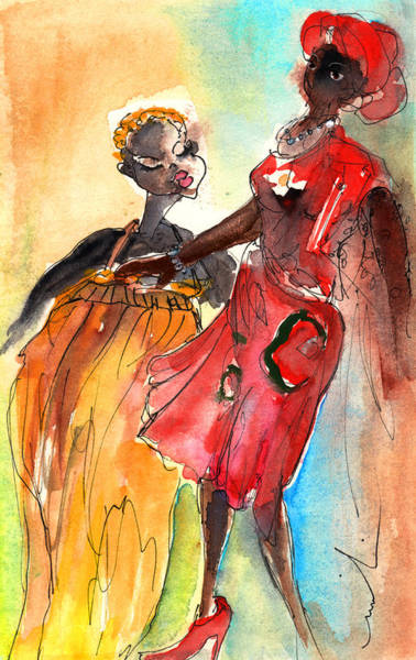 Painting - Black Beauties From Lanzarote by Miki De Goodaboom
