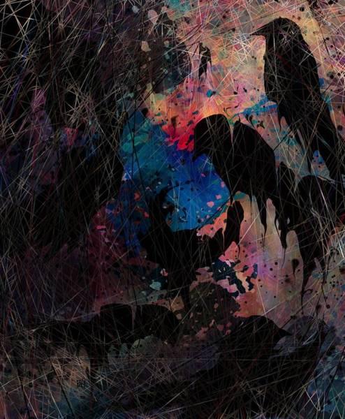 Depressed Digital Art - Black Bird by Rachel Christine Nowicki