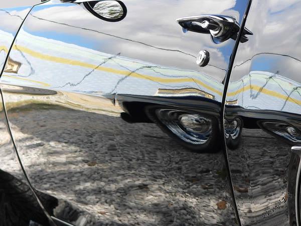 Photograph - Black Camaro S S Cruisin' Reflection  by Kathy K McClellan