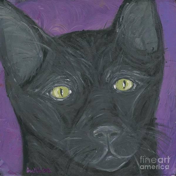 Painting - Black Cat by Ania M Milo