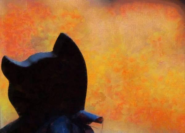 Painting - Black Cat Autumn Colors by Dan Sproul