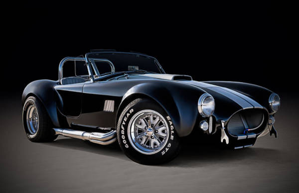 Roadster Wall Art - Digital Art - Black Cobra by Douglas Pittman