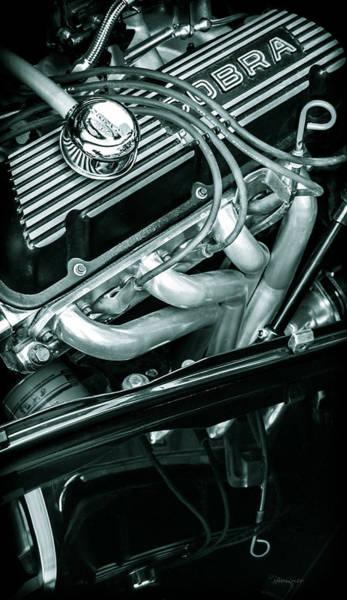 Street Rods Photograph - Black Cobra - Ford Cobra Engines by Steven Milner