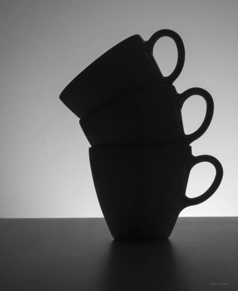 Photograph - Black Coffee Cups by Steven Milner