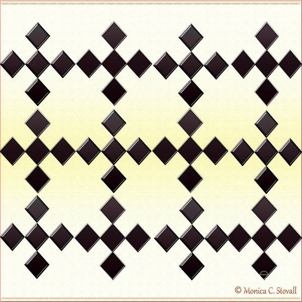 Digital Art - Black Diamonds Design by Monica C Stovall