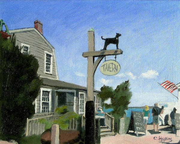 Wall Art - Painting - Black Dog Tavern Martha's Vineyard Massachusetts by Christine Hopkins