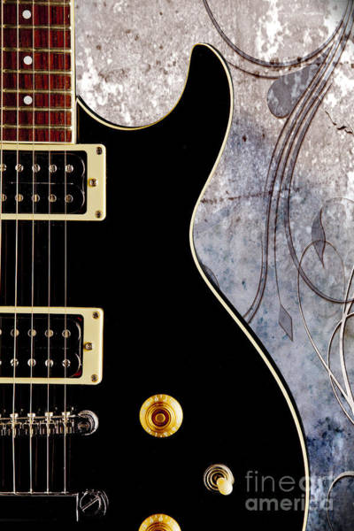 Photograph - Black Electric Guitar Photograph On Fine Art Color 3324.02 by M K Miller