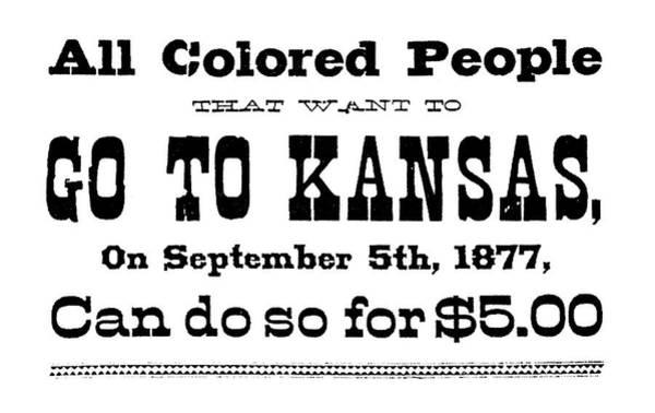 Painting - Black Exodus Handbill, 1877 by Granger