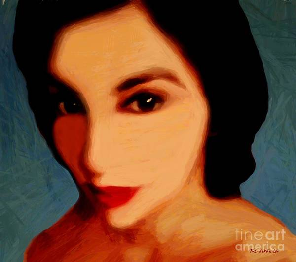 Flirtatious Painting - Black-eyed Beauty by RC DeWinter