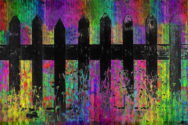Neighborhood Painting - Black Fence 1 by Tony Rubino