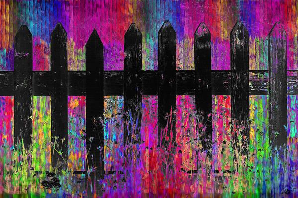 Neighborhood Painting - Black Fence 3 by Tony Rubino