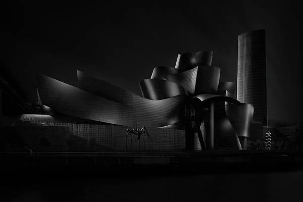 Bilbao Photograph - Black (guggenheim) Angle Iv by Juan Pablo De