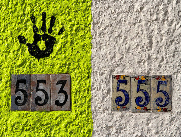 Numbers Photograph - Black Hand by Joe Kozlowski
