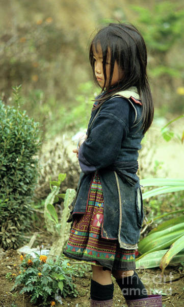 Ethnic Minority Photograph - Black Hmong Girl by Rick Piper Photography