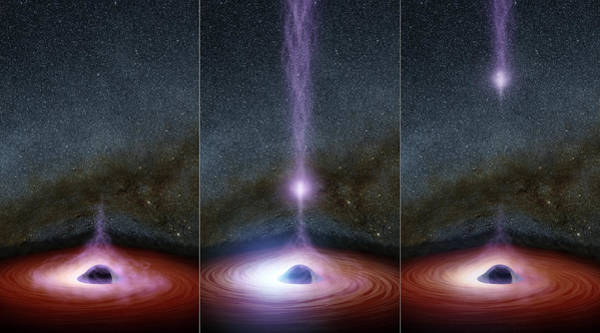 Photograph - Black Hole And Corona by Science Source