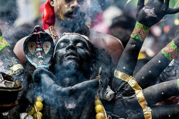 Holy Spirit Photograph - Black Kaali by Elangovan Subramanian