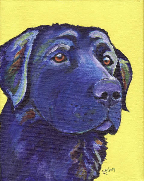 Painting - Black Lab by Greg and Linda Halom