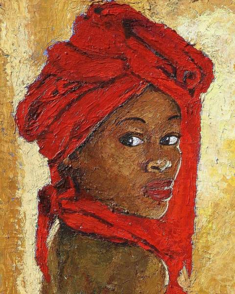 Bright Colours Mixed Media - Black Lady No. 12 by Janet Ashworth