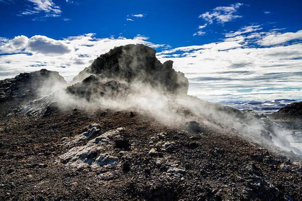 Photograph - Black Lava Field Landscape In Iceland by Matthias Hauser