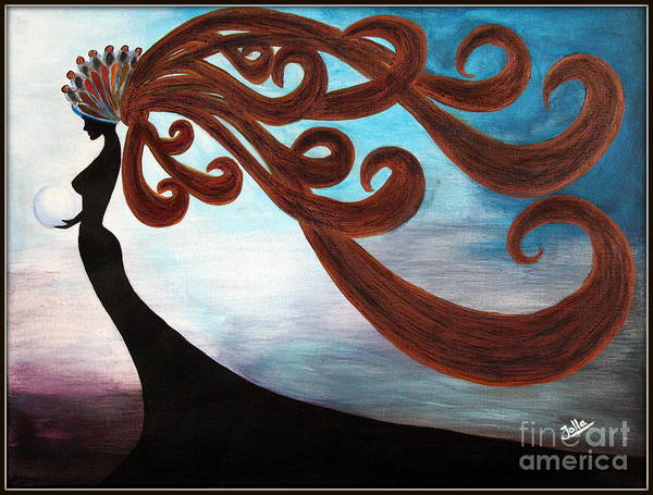 Painting - Black Magic Woman by Jolanta Anna Karolska