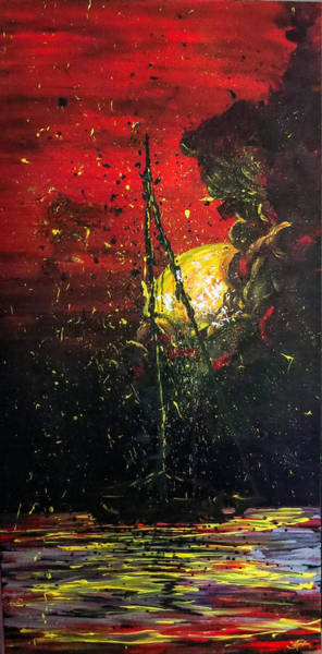 Painting - Black Me Out by Joel Tesch