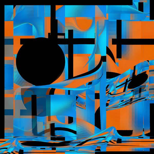 Digital Art - Black Moon - Fine Art Digital Abstract - Roy by rd Erickson
