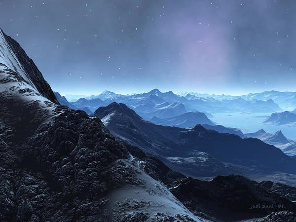 Digital Art - Black Mountain by Judi Suni Hall