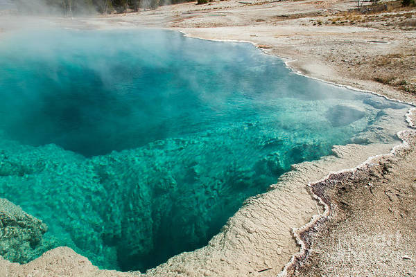 Photograph - Black Pool In West Thumb Geyser Basin by Fred Stearns