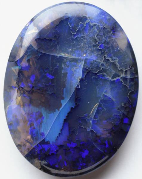 Silicon Dioxide Photograph - Black Precious Opal by Dorling Kindersley/uig