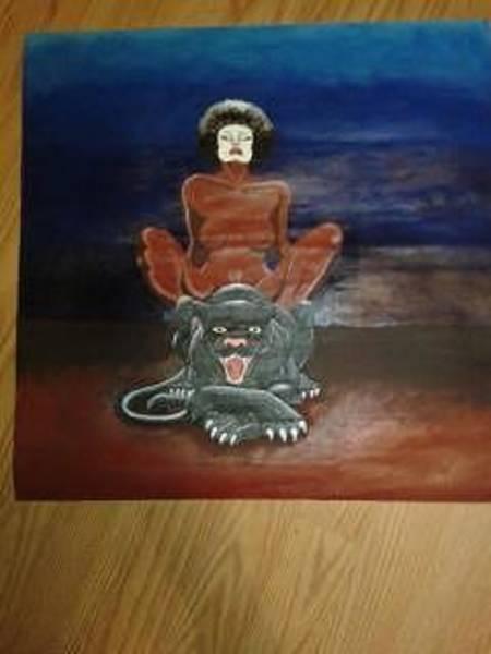 Arthurs Seat Painting - Black Pussy by Demarkco Arthur