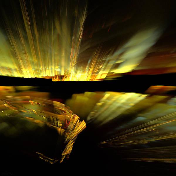 Fractal Landscape Digital Art - Black River by Paulette Chaparro
