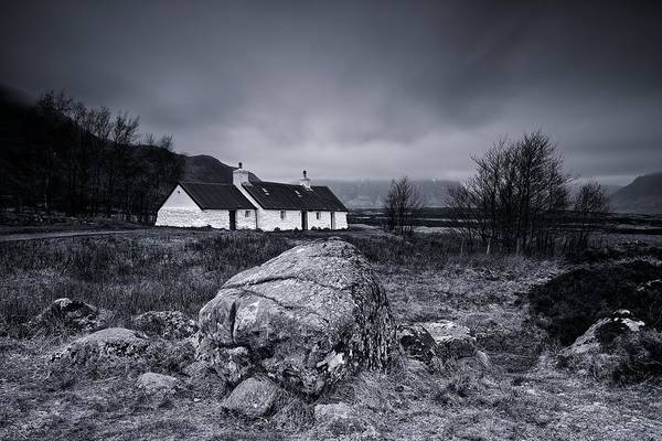 Black Rock Cottage - Glencoe Art Print