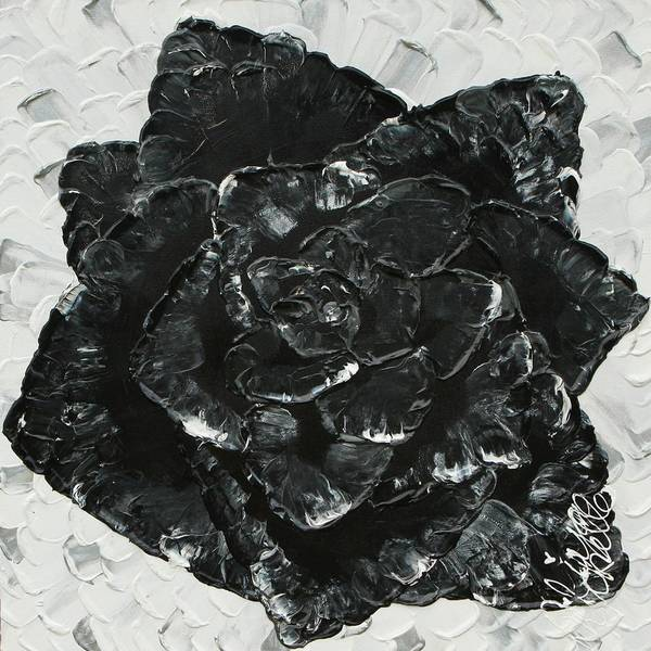 Painting - Black Rose I by Aliya Michelle