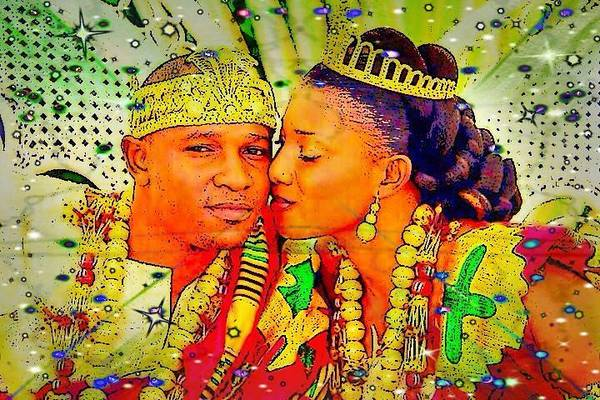 Digital Art - Black Royalty by Karen Buford