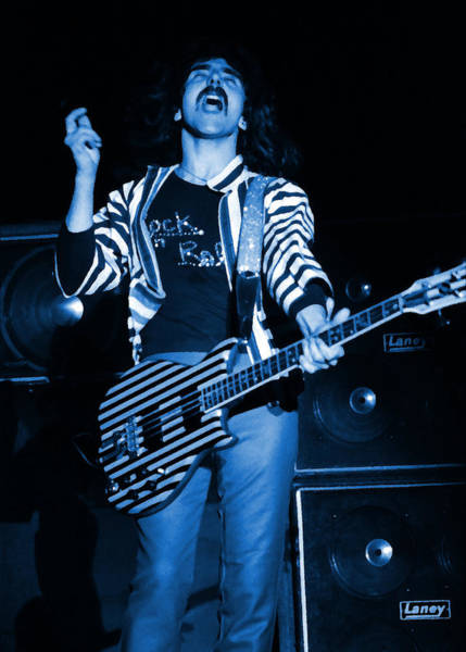 Photograph - Black Sabbath #25 Enhanced In Blue by Ben Upham