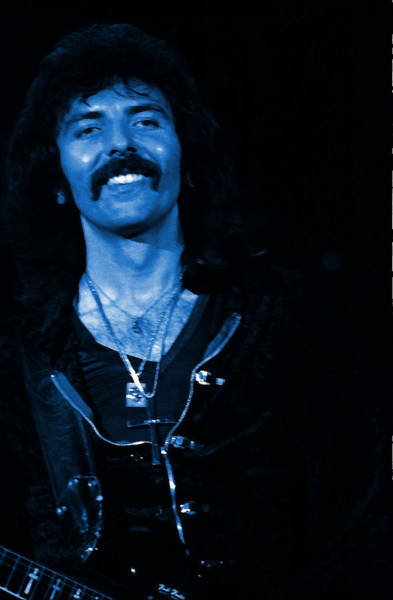 Photograph - Black Sabbath #46 Enhanced In Blue by Ben Upham