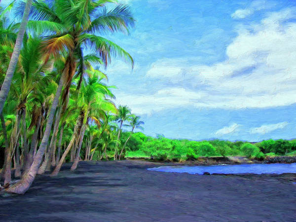 Painting - Black Sand Beach At Punaluu by Dominic Piperata