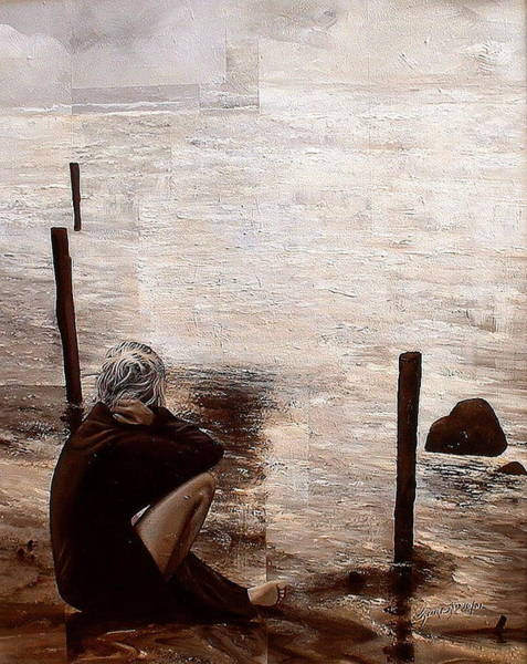 Painting - Black Sand by Laurend Doumba