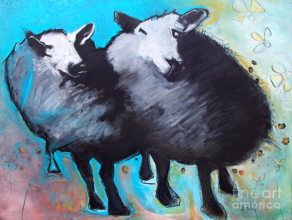 Painting - Black Sheep by Cindy Suter