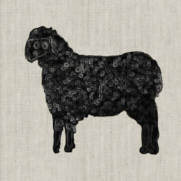Painting - Black Sheep by Portraits By NC