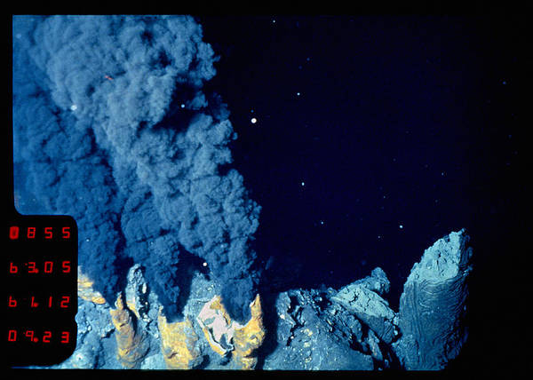 Vent Photograph - Black Smoker Hydrothermal Vents by Dr Ken Macdonald/science Photo Library