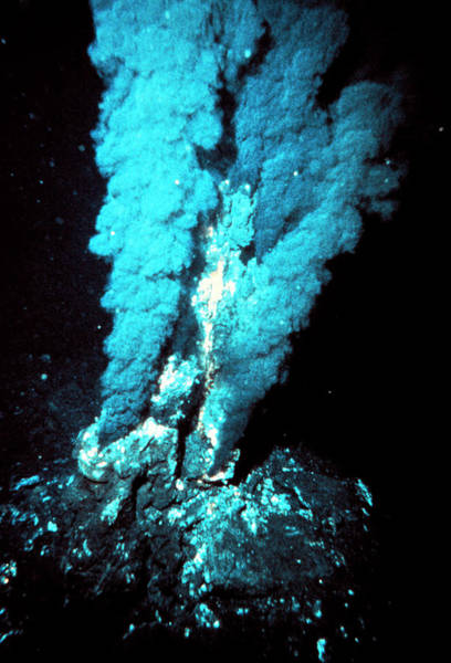 Vent Photograph - Black Smoker Submarine Vent by P Rona/oar/national Undersea Research Program/noaa /science Photo Library