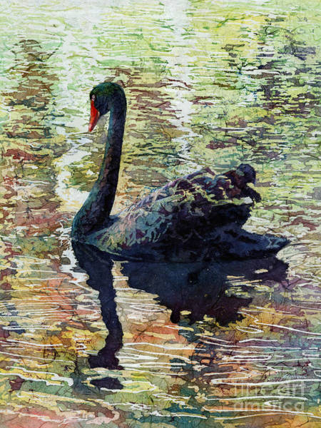 Wall Art - Painting - Black Swan by Hailey E Herrera