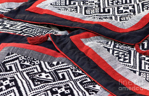 Ethnic Minority Photograph - Black Thai Fabric 04 by Rick Piper Photography